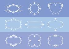 花卉边界样式设计收藏 免版税库存图片