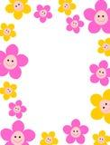 花卉边界 库存例证