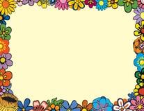 花卉边界 免版税库存照片