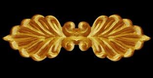 花卉金子被镀的葡萄酒装饰品框架  库存照片