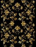 花卉金黄模式 向量例证
