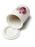 花卉陶瓷容器 库存照片