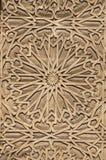 花卉雕刻的装饰品细节在哈桑二世清真寺, Casablanc 免版税库存照片