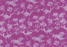 花卉鞋带,紫色颜色 免版税库存图片