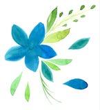 画花卉题材的向量化水彩手 免版税库存图片