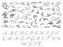 花卉首字母模式 免版税库存照片