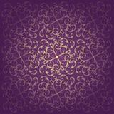 花卉巴洛克式的紫色背景传染媒介 库存图片