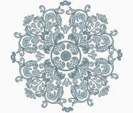 花卉经典圆装饰品 库存图片