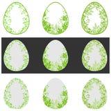 花卉绿色复活节彩蛋 库存图片