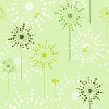 花卉绿色生态无缝 免版税库存图片