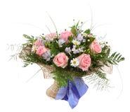 花卉戴西构成、花束和p 图库摄影