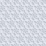 花卉3d无缝的样式背景 免版税库存图片