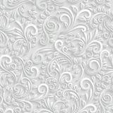 花卉3d无缝的背景 免版税库存照片