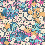 花卉Ditsy玉米花|无缝 库存图片