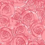 花卉grunge模式粉红色无缝的向量婚礼 免版税库存照片