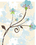 花卉grunge系列 库存照片