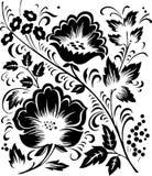 花卉hohloma装饰品 免版税库存图片