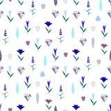 花卉seamess样式 向量例证
