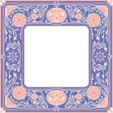 花卉Sqyare框架 白色空间在中心 库存图片