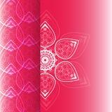 花卡片在葡萄酒样式的传染媒介设计 免版税库存图片