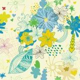 花可爱的pattern1无缝的春天 免版税库存照片