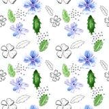 花叶子仿造无缝 向量例证