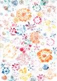 花叶子被绘的墙纸 库存照片