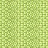 花和几何装饰品,绿色 库存例证