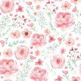 花和叶子样式 免版税库存照片