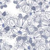 花和叶子的构成 免版税库存照片
