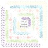 花和叶子 丝带和装饰品 您的婚礼设计、小块售票元素、明信片和商标的装饰 皇族释放例证