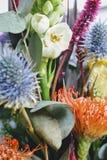 花和叶子 免版税库存照片