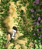 花和植物假日销售概念 免版税库存图片