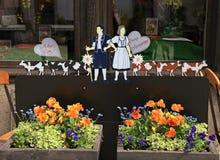 花和母亲节装饰 免版税库存照片