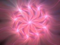 花和相交的螺旋线的风格化图象 空间和时间无限  在空间的混乱运动 ??  皇族释放例证
