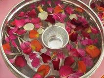 花和水Songkran节日的在泰国 库存图片