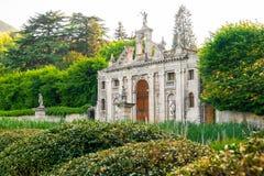花园大门euganean小山帕多瓦Valsanzibio 免版税图库摄影