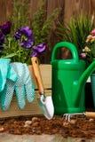 花园艺工具 免版税库存照片