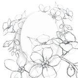 花图表元素 背景细部图花卉向量 皇族释放例证