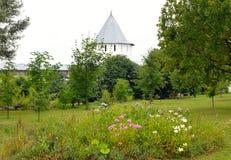 花圃在救主Priluki修道院里 免版税库存图片