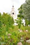 花圃在救主Priluki修道院里 库存图片