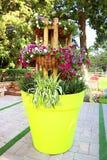 花在公园拉马特甘Hanadiv,爱德蒙de Rothschild男爵纪念庭院  库存图片