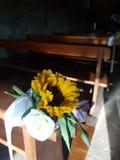 花在教会里 库存图片
