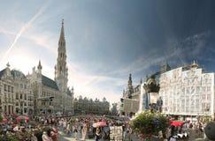 花地毯在布鲁塞尔,比利时 免版税库存图片