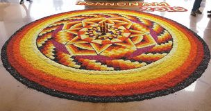 花地毯 图库摄影