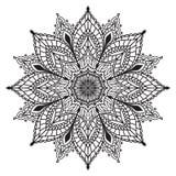花坛场 种族装饰元素 着色页templat 皇族释放例证