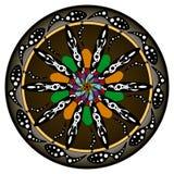花坛场 装饰要素葡萄酒 东方样式,传染媒介例证 回教,阿拉伯语,印地安人,土耳其语 库存图片