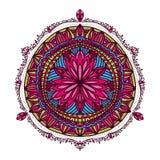 花坛场 装饰要素葡萄酒 东方样式,例证 回教,阿拉伯语,印地安土耳其语巴基斯坦脊椎 免版税库存图片