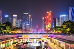花城市广场地平线在广州2 免版税库存图片