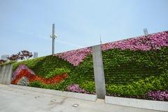 花墙壁在障壁,上海,中国的 免版税库存图片